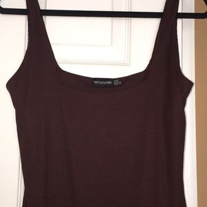 PrettyLittleThing Dresses - Chocolate brown cotton midi dress